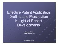Effective Patent Application Drafting and Prosecution in Light of ...