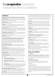 Funeral Plan Terms & Conditions - The Co-operative