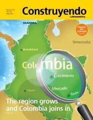 The region grows and Colombia joins in Construyendo ... - Skanska