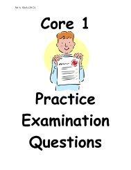 Core 1 Question Book.. - Mr Barton Maths