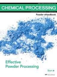 Effective Powder Processing - Chemical Processing
