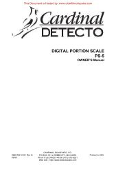 DIGITAL PORTION SCALE PS-5 - Scale Manuals