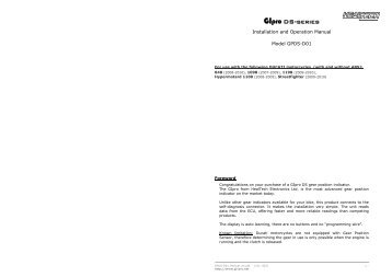 GPDS-T01 Manual - AGO Motors