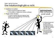 Popper: Logik der Forschung Eine Induktionslogik gibt ... - Ploecher.de