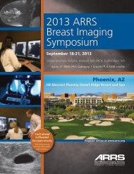 2013 ARRS Breast Imaging Symposium - American Roentgen Ray ...