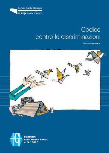 Codice contro le discriminazioni - Assemblea Legislativa