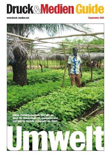 Guide Umwelt 2012 - Druck und Medien