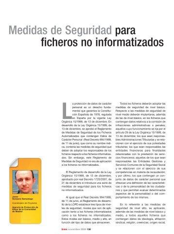 Medidas de Seguridad para ficheros no informatizados