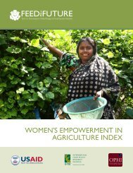 Women's Empowerment in Agriculture Index (WEAI) - Feed the Future