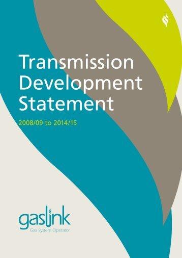 Transmission Development Statement - Gaslink