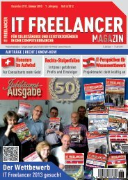 IT Freelancer Magazin Nr. 6/2012