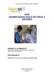 guía examen radiológico de tórax y abdomen dirigido a ... - Biblioteca