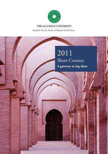 Short Courses Brochure - Aga Khan University