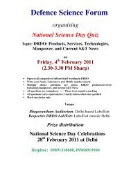 Defence Science Forum - DRDO
