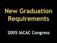 Overview from IACAC Congress 2005 - Indiana Pathways to College ...