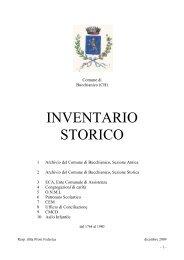 Comune di Bucchianico. Inventario dell'archivio storico