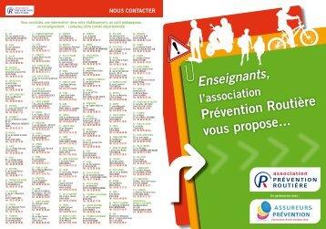 Enseignants, l'association Prévention Routière vous propose...