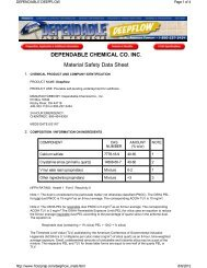 MSDS Sheet - Fishman and Son, Inc.