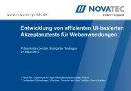 Stuttgarter Testtage (März 2013) - NovaTec GmbH