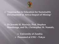 Approaches to Education for Sustainable Development in ... - UNU-ISP