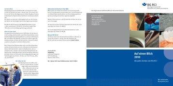 Auf einen Blick 2010 - Berufsgenossenschaft Rohstoffe und ...