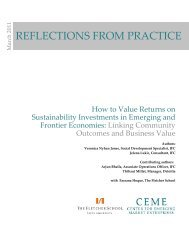 How to Value Returns on Sustainability Investments in ... - CommDev
