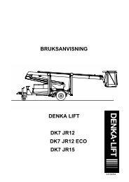 BRUKSANVISNING DENKA LIFT DK7 JR12 DK7 ... - AJ Maskin AS