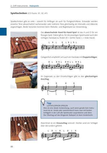 Beispielseiten Orff-Instrumente und wie man sie spielt - IfeM