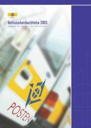 Verksamhetsberättelse 2003 - Posten Åland