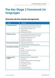 The Key Stage 3 Framework for languages