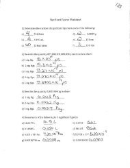 Significant Figures Worksheet 1] Determine the number of significant ...