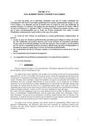 FICHE N° 5 : LES JURIDICTIONS COMMUNAUTAIRES - Canalblog
