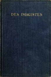 Des Imagistes: An Anthology (New York: Albert & Charles Boni ...