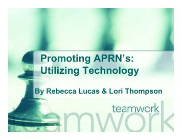 Promoting APRN's: Promoting APRN s: Utilizing ... - essentiavitae.com