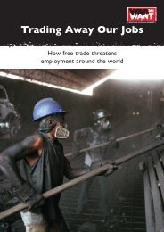 Trading Away Our Jobs - War on Want