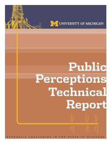 Public Perceptions Technical Report - Graham Sustainability Institute