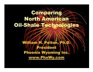 Comparing North American Oil-Shale Technologies