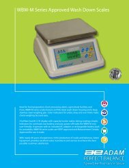 WBW-M Series Approved Wash Down Scales - Adam Equipment
