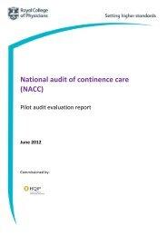 Continence Care Pilot Audit Evaluation Report (pub Aug ... - HQIP