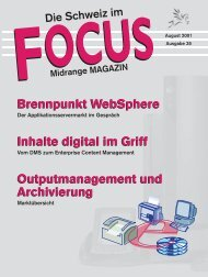 Brennpunkt WebSphere Inhalte digital im Griff Outputmanagement ...