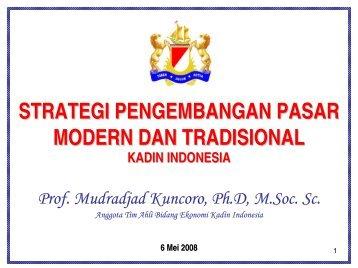 strategi pengembangan pasar modern dan ... - Kadin Indonesia