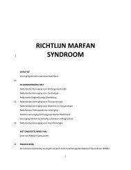 RICHTLIJN MARFAN SYNDROOM - Kwaliteitskoepel