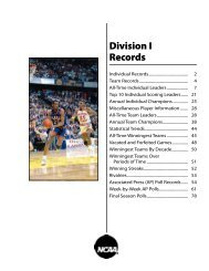 2010-11 NCAA Men's Basketball Records - Division I Records