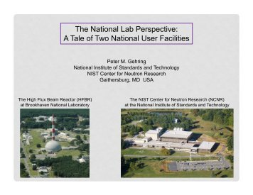 The National Lab Perspective: A Tale of Two National User Facilities