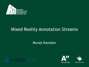 Murad Kamalov (HIIT) - Studierstube Augmented Reality Project