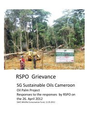 RSPO Grievance - SAVE Wildlife Conservation Fund