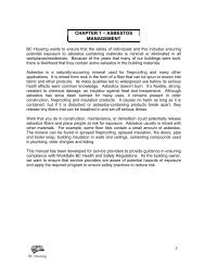 CHAPTER 1 – ASBESTOS MANAGEMENT - BC Housing