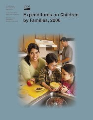 Expenditures on Children by Families, 2006 - Center for Nutrition ...
