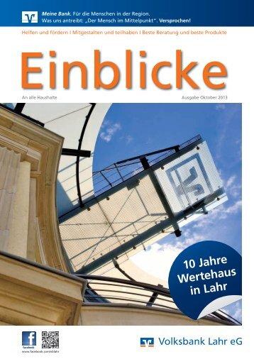 Kundenzeitschrift Einblicke.pdf - Meine Bank vor Ort