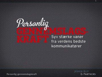 Uddrag af Jesper Klits præsentation - iaa.dk